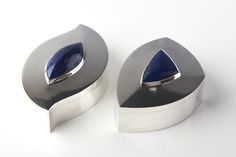 silver boxes with lapis lazuli by ray walton