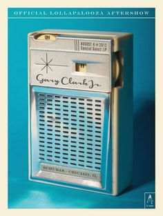 Cool illustration of a portable am radio. This was for a Gary Clark Jr. Lollapalooza aftershow at Schubas in Chicago Lollapalooza, Radios, Gary Clark Jr, Pocket Radio, Old Music, 1970s Music, Unique Poster, Retro Images, Transistor Radio
