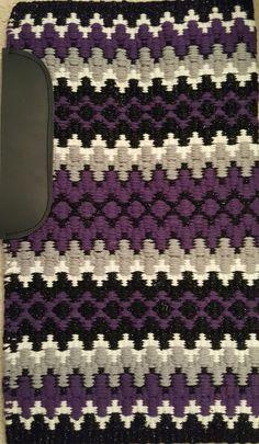 Show Diva Designs purple, black metallic, white and grey 34x40 saddle pad. www.showdivadesigns.com