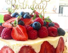 Frisk glutenfri ostekake med bringebærgele – Cake before cardio Frisk, Cardio, Cheesecake, Desserts, Food, Tailgate Desserts, Deserts, Cheese Cakes, Eten