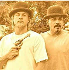 Something a bit different Charlie Hunnam and Emilio Rivera