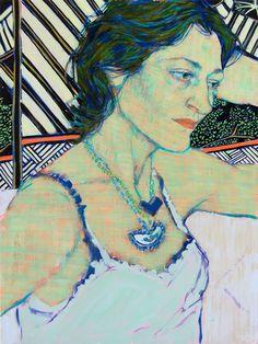 Hope Gangloff - Ballpoint Pen Art - Figurative Painting - Jane, 2015