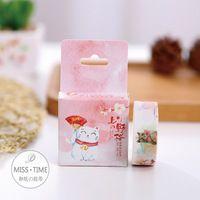 Leuke Japanse Kat Decoratieve Washi Tape DIY Scrapbooking Afplakband School Office Supply Escolar Papelaria