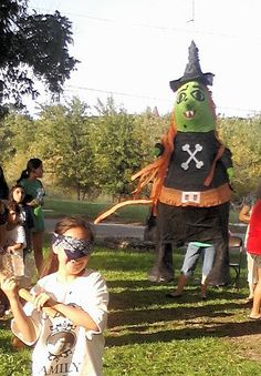 Witch pinata for Halloween!