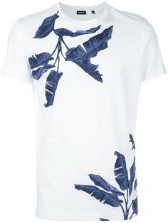DIESEL tropical print T-shirt. #diesel #cloth #t-shirt