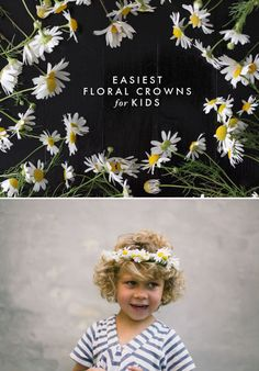 Did you see the adult-sized floral crown yesterday? Now we also have a children-sized tutorial for you on the blog!