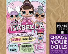 Lol Surprise Dolls Birthday, Lol Surprise Invitation, LOL Surprise Doll Party, Lol Doll Invitation, Lol Doll Birthday Part, Lol Surprise