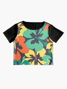"""Flower Print, Flower Pattern"" T-shirt by MsD7 | Redbubble Flower Patterns, Print Patterns, Crew Neck Sweatshirt, T Shirt, Flower Prints, Chiffon Tops, Mini Skirts, Women's Fashion, Crop Tops"