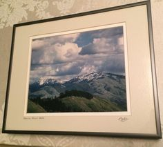 "Wenda Pyman Framed Art Photograph: Snow on Mount Diablo 11"" x 14"" Great Gift"