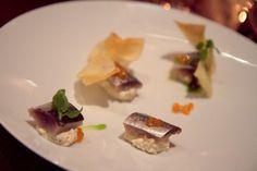 Artful sardines over cauliflower horseradish cream at Verbena
