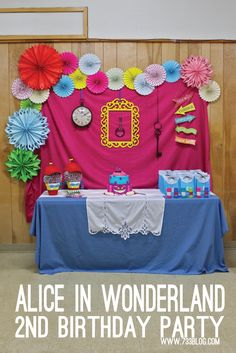 Disney Alice in Wonderland Birthday Party Ideas and Free Printables