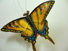 Hey, I found this really awesome Etsy listing at https://www.etsy.com/listing/78124183/tiger-swallowtail-butterfly-brooch