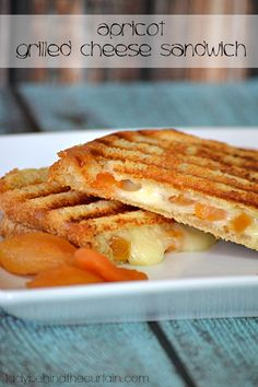 Apricot Grilled Cheese Sandwich - Lady Behind the Curtain