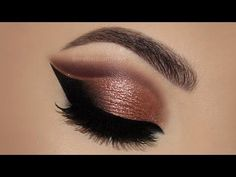 Coisas que Gosto: ⭐ Copper Cut Crease Glitter MakeUp Tutorial   Meli...