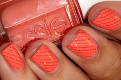 Orange Nails love this Orange Nail Designs, Colorful Nail Designs, Orange Design, Nail Art 2014, New Nail Art, Cute Nails, Pretty Nails, Hair And Nails, My Nails