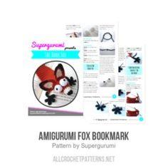 Amigurumi Fox Bookmark crochet pattern by Supergurumi