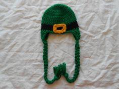 St patricks day hat   photo prop .....latest craze  sz newborn