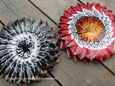 kahvipussit | Käsitöitä ja Puutarhanhoitoa Diy Paper, Paper Crafts, Marimekko, Hobbies And Crafts, Upcycle, Recycling, Halloween, Handmade, Coffee Bags