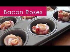 what a great idea for a breakfast baby or bridal shower! Kristen's Bacon Roses | How to Bake - YouTube