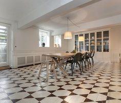 painted floorboards kitchen