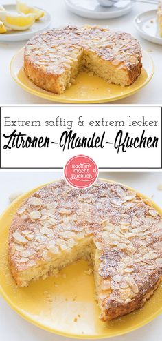 Mandel-Zitronen-Kuchen ohne Mehl - The Best French Recipes Food Cakes, Great Recipes, Vegan Recipes, Family Recipes, Cookie Recipes, Dessert Recipes, Vegan Blueberry, Almond Cakes, Chip Cookies