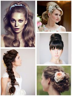 Wedding Hairstyle Inspiration on http://itsabrideslife.com