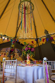 World Inspired Tents - Open Weekend & Fiesta Styled Shoot, Autumn 2015. Images by sarahlaurenphotography.com Styling: The Little Wedding Helper & Meadowsweet Vintage, Flowers: West Dorset Wedding Flowers, Flags & bunting: The Event Flag Hire Company, Stationery: Hip Hip Hooray & Silver Deer, Cake: Edible Essence Couture Cake Co, Vintage coloured furniture: Virginia's Vintage, Textiles: Chilpa, Tableware: South West Event Hire, Card pinwheels & giant flowers: Things by Laura.