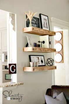How To Build Floating Shelves With Clavos - 109 Easy Ideas to Build DIY Shelves for Your Home Decor - DIY & Crafts