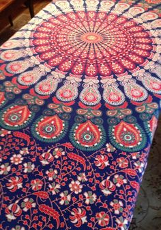 Decorative Massage Table Covers by SilverLiningsToYou on Etsy