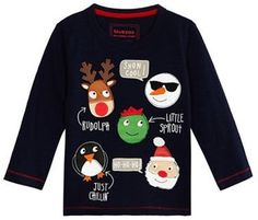 def9a2e9de42 From bluezoo's fantastic range of children's clothing, this fun jumper is  an essential choice for the festive season. In navy, it has Christmas-themed  ...