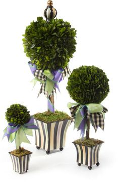 MacKenzie-Childs Courtly Stripe Topiary on shopstyle.com