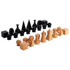 Love these #chess pieces.  If I only played chess more often, I might attempt to carve a similar set.  Man Ray Chess Pieces by IC Design Group