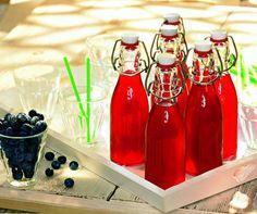 Heidelbeer-Limonade Cocktail Drinks, Cocktails, Hot Sauce Bottles, Superfood, Lemonade, Blueberry, Food And Drink, Home Decor, Marion