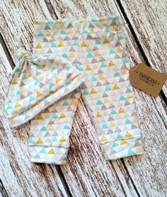Organic Baby Leggings, gender neutral baby clothes, organic toddler leggings, organic baby clothes, triangle leggings, leggins, baby pants
