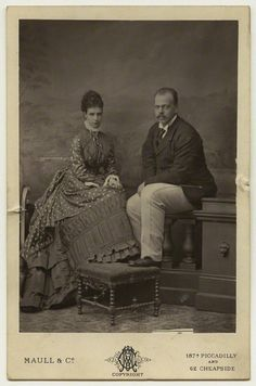 Tsarina Maria Feodorovna of Russia, nee Princess Dagmar of Denmark, with her husband Tsar Alexander III