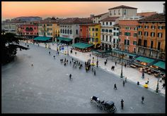 Verona, Italy - the colors remind me of the Dominican Republic - damn beautiful!