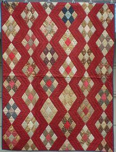 Antique Diamond quilt with Zig Zag Setting « Ann Champion's Blog