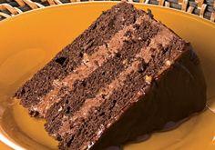 Carska čokoladna torta ~ Recepti i Savjeti Torte Recepti, Kolaci I Torte, Bakery Recipes, Cooking Recipes, Fun Desserts, Dessert Recipes, Opera Cake, Cake Slicer, Bosnian Recipes