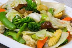 Chinese Mixed Vegetables, Asian Vegetables, Fried Vegetables, Veggies, Mix Vegetable Recipe, Vegetable Recipes, Vegetarian Recipes, Cooking Recipes, Chopsuey Recipe