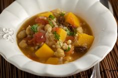 Butternut Squash and Chickpea Stew with Israeli Couscous @ Pinch My Salt