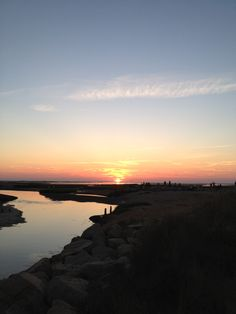Paine's Creek is the best place to see the sunset (Breakwater Beach)
