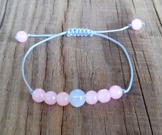 Real rose quartz moonstone bracelet  rose от HarmonyLifeShop
