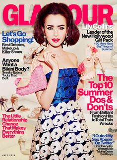 GLAMOUR MAGAZINE JULY 2013 COVER GIRL: LILY COLLINS   The Trend Diaries - Latest Celebrity Style, Fashion, and Beauty Trends - Street Style and Red Carpet