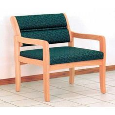 Wooden Mallet Valley Bariatric Guest Chair Wood Finish: Light Oak, Fabric: Watercolor Blue, Frame Type: Straight Leg