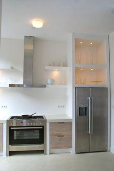 Whitewash keuken Koak Design Ikea kasten met eiken houten fronten en ingefreesde handgrepen04