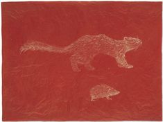 Kiki Smith , Little Rodents, 1996. Ink on rice paper mounted on rice paper, 44.8 x 60 cm.