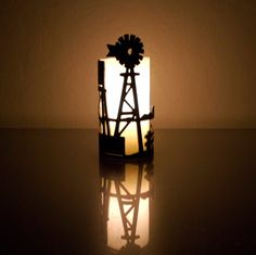Windmill on the Farm Decorative Metal Candle by TubeTorcher Plasma Torch, Windmill Decor, Metal Candle Holders, Farmhouse Chic, Votive Candles, Seasonal Decor, Night Light, Decorative Metal, Windmills