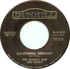 California Dreamin' - The Mama's And The Papas 45 Records, Vinyl Records, Latex Fashion, Steampunk Fashion, Gothic Fashion, Make Mine Music, R&b Albums, Ghibli, Old Music