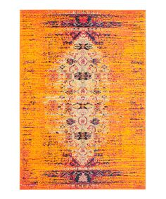Look at this Orange Harika Rug on #zulily today!