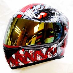 Godzilla Masei 830 Full Face Motorcycle DOT Arai Harley Icon OGK Helmet